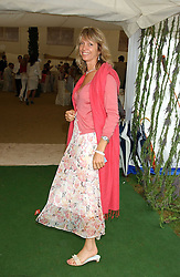 SABRINA GUINNESS at the 2005 Cartier International Polo between England & Australia held at Guards Polo Club, Smith's Lawn, Windsor Great Park, Berkshire on 24th July 2005.<br /><br />NON EXCLUSIVE - WORLD RIGHTS