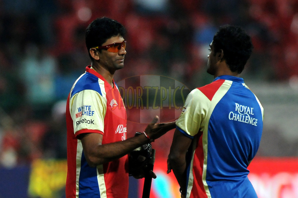 Venkatesh Prasad bowling coach during match 10 of the NOKIA Champions League T20 ( CLT20 )between the Royal Challengers Bangalore and the Kolkata Knight Riders held at the  M.Chinnaswamy Stadium in Bangalore , Karnataka, India on the 29th September 2011..Photo by Pal Pillai/BCCI/SPORTZPICS