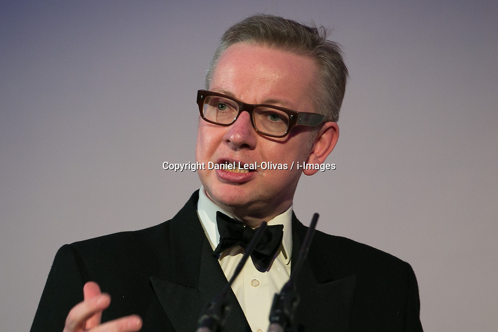 MP Michael Gove presents the annual ceremony which recognises the country's richest Asians. Figures compiled by the Eastern Eye newspaper. Park Plaza Hotel, London, United Kingdom. Friday, 11th April 2014. Picture by Daniel Leal-Olivas / i-Images