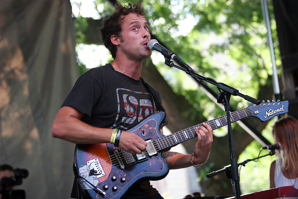 CHICAGO - JULY 18:  Luke Temple of Here We Go Magic performs onstage during the 2010 Pitchfork Music Festival at Union Park on July 18, 2010 in Chicago, Illinois.  (Photo by Roger Kisby/Getty Images)