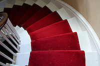 The grand staircase, Woodlawn Museum, Ellsworth, Maine.