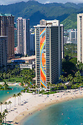 Hilton Hawaiian Village,  Rainbow Tower, Waikiki, Beach, Oahu, Hawaii