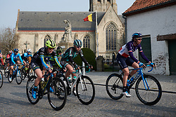 Rozanne Slik (NED), Mikayla Harvey (NZL) and Aude Biannic (FRA) at Gent Wevelgem - Elite Women 2019, a 136.9 km road race from Ieper to Wevelgem, Belgium on March 31, 2019. Photo by Sean Robinson/velofocus.com