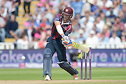 David Willey during the NatWest T20 Blast semi final match between Northamptonshire County Cricket Club and Warwickshire County Cricket Club at Edgbaston, Birmingham, United Kingdom on 29 August 2015. Photo by David Vokes.