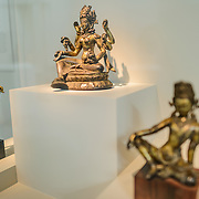 Sackler Gallery Hindu Statues. The Arthur M. Sackler Gallery, located behind the Smithsonian Castle, showcases ancient and contemporary Asian art. The gallery was founded in 1982 after a major gift of artifacts and funding by Arthur M. Sackler. It is run by the Smithsonian Institution.
