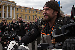 May 6, 2017 - Saint Petersburg, Russia - Russian biker group leader of Nochniye Volki (the Night Wolves), Alexander Zaldostanov, also known as Khirurg (the Surgeon) during the opening ceremony of the new motorbiking season in St. Petersburg. (Credit Image: © Igor Russak/NurPhoto via ZUMA Press)
