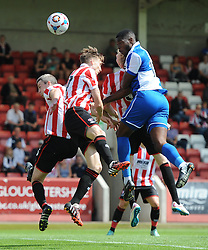 Nathan Blissett of Bristol Rovers heads towards goal - Mandatory by-line: Dougie Allward/JMP - 25/07/2015 - SPORT - FOOTBALL - Cheltenham Town,England - Whaddon Road - Cheltenham Town v Bristol Rovers - Pre-Season Friendly