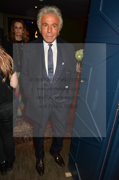 GIANCARLO GIAMMETTI at a party to celebrate the 1st anniversary of Hello! Fashion Monthly magazine held at Charlie, 15 Berkeley Street, London on 14th October 2015.