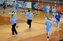 Branka Zec, Neja Soberl, tamara Mavsar and Jana Bacar at practice of Slovenian Handball Women National Team, on June 3, 2009, in Arena Kodeljevo, Ljubljana, Slovenia. (Photo by Vid Ponikvar / Sportida)