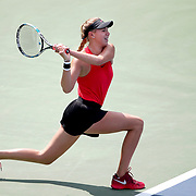 2017 U.S. Open Tennis Tournament - DAY FOURTEEN. Amanda Anisimova of the United States in action against Cori Gauff of the United States in the Junior Girls' Singles Final at the US Open Tennis Tournament at the USTA Billie Jean King National Tennis Center on September 10, 2017 in Flushing, Queens, New York City.  (Photo by Tim Clayton/Corbis via Getty Images)