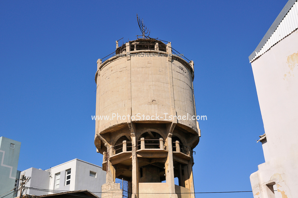 Israel, Tel Aviv, The old disused water tower Maze Street