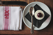Jelly Shot with whipped cream and a cherry, HIX Restaurant, 66-70 Brewer St, Soho, London, United Kingdom<br /> CREDIT: Vanessa Berberian for The Wall Street Journal<br /> HIX