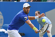 Steve Johnson (USA) during the semi-finals of Aegon Open at the Nottingham Tennis Centre, Nottingham, United Kingdom on 24 June 2016. Photo by Martin Cole.