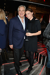 GEORGIE RYLANCE and GIUSEPPE CIARDI at a party in aid of the Youth at Risk charity held at Raffles, 287 King's Road, London on 27th November 2013.