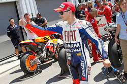 24.07.2010, Laguna Seca, USA, MotoGP, Red Bull U.S. Grand Prix  2010, qualifying, im Bild celebration of Jorge Lorenzo - Fiat Yamaha team .EXPA Pictures © 2010, PhotoCredit EXPA InsideFoto Semedia +++++ ATTENTION - FOR AUSTRIA AND SLOVENIA CLIENT ONLY +++++ / SPORTIDA PHOTO AGENCY