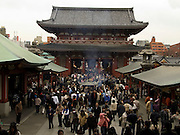 temple gate at the Asakusa Kannon Temple Tokyo