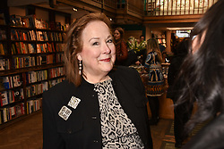 Shelley von Strunckel at a party to celebrate the publication of Saving The World by Paola Diana at Daunt Books, Marylebone, London England. 2 May 2018.
