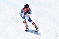 BROISIN Jordan LW4 FRA competing in ParaSkiAlpin, Para Alpine Skiing, Super G at PyeongChang2018 Winter Paralympic Games, South Korea.