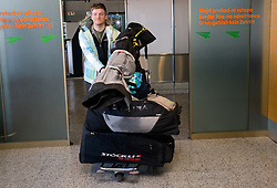 Slovenian alpine skier Andrej Krizaj at arrival to Airport Joze Pucnik from Vancouver after Winter Olympic games 2010, on February 25, 2010 in Brnik, Slovenia. (Photo by Vid Ponikvar / Sportida)