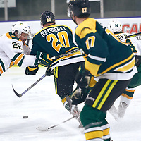2nd year forward, Ben Duperreault (20) of the Regina Cougars during the Men's Hockey Home Game on Sat Jan 26 at Co-operators Center. Credit: Arthur Ward/Arthur Images