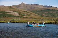 Float fishing the Kanektok River..Shot in Alaska, USA