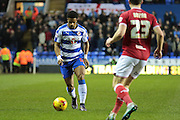 Reading forward Garath McCleary during the Sky Bet Championship match between Reading and Bristol City at the Madejski Stadium, Reading, England on 2 January 2016. Photo by Jemma Phillips.