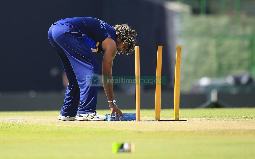 August 23, 2017 - Kandy, Sri Lanka - Sri Lankan cricketer Lasith Malinga during a practice session ahead of the 2nd ODI cricket match between Sri Lanka and India at Pallekele International cricket ground , Kandy, Sri Lanka on Wednesday August 23 2017. (Credit Image: © Tharaka Basnayaka/NurPhoto via ZUMA Press)
