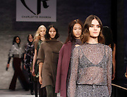 Models walk at Charlotte Ronson presentation during the Mercedes-Benz Fall/Winter 2015 shows at the Pavilion in Lincoln Center in New York City, New York on February 13, 2015.