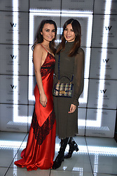 Samantha Barks and Gemma Chan at the official launch of The Perception at W London, 10 Wardour Street, London England. 7 November 2017.<br /> Photo by Dominic O'Neill/SilverHub 0203 174 1069 sales@silverhubmedia.com