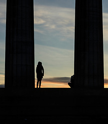 Sunrise on Calton Hill, Edinburgh