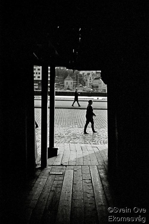 To personer spaserer.<br /> Foto: Svein Ove Ekornesvåg