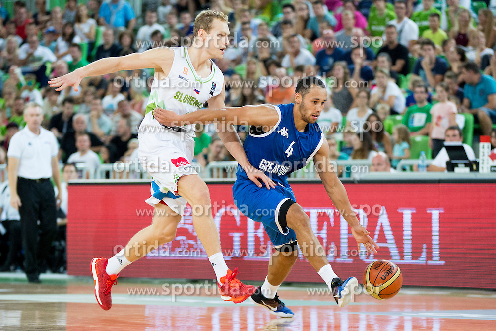 Jaka Blazic of Slovenia during friendly basketball match between National teams of Slovenia and G. Britain, on August 20, 2016 in Arena Stozice, Ljubljana, Slovenia. Photo by Urban Urbanc / Sportida