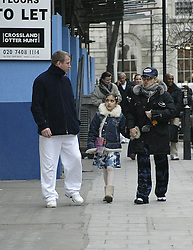 Exclusive photos.<br /> Guy Ritchie, Madonna and Lola coming from the Kabbalah Centre, London. Despite the heavy coat, baggy pants, glasses and change of hats, Madonna was still recognisable.2nd May, 2005,<br /> London, United Kingdom<br /> Picture by Mike Webster / i-Images