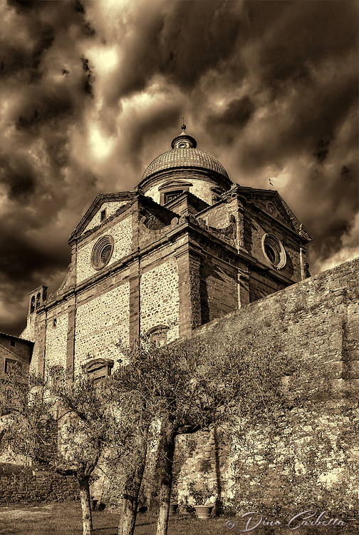"""Church of Santa Maria Nuova – Cortona - BW""…<br />