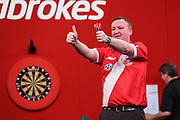 Glen Durrant wins his second round match during the Ladrokes UK Open 2019 at Butlins Minehead, Minehead, United Kingdom on 1 March 2019.