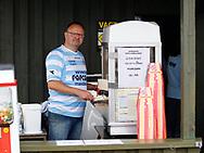 """FODBOLD: Lars """"Popcorn"""" Hansen før kampen i ALKA Superligaen mellem FC Helsingør og Randers FC den 26. august 2017 på Helsingør Stadion. Foto: Claus Birch"""