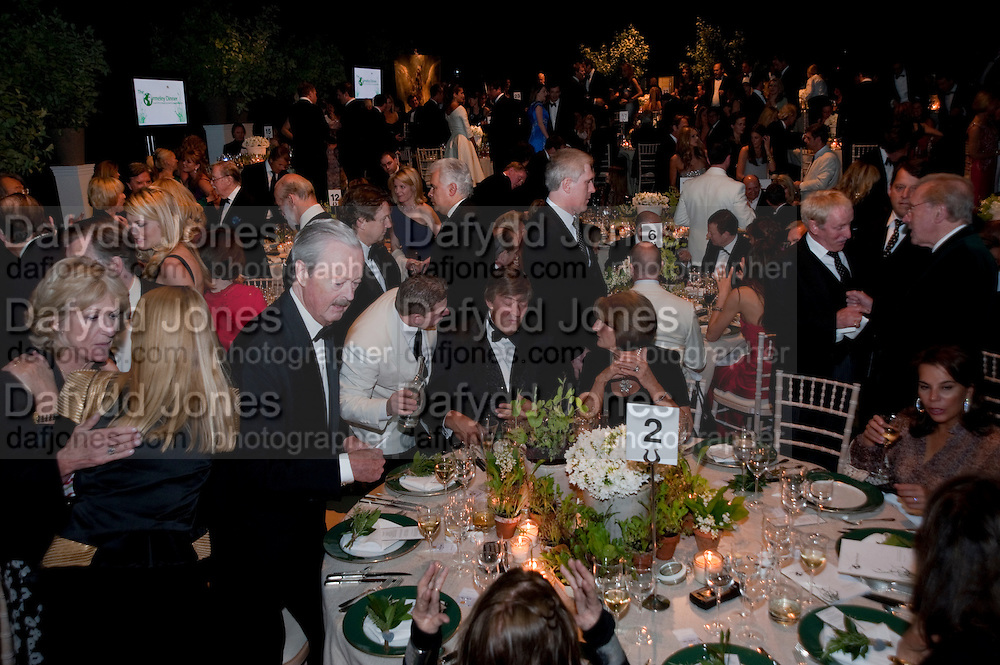 ANNABEL ELLIOT; DUKE OF MARLBOROUGH; STEPHEN FRY; LADY ANNABEL GOLDSMITH, The Ormeley dinner in aid of the Ecology Trust and the Aspinall Foundation. Ormeley Lodge. Richmond. London. 29 April 2009