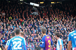 March 30, 2019 - Barcelona, Catalonia, Spain - TV camera during the match between FC Barcelona and RCD Espanyol, corresponding to the week 29 of the Liga Santander, played at the Camp Nou Stadium, on 30th March 2019, in Barcelona, Spain. (Credit Image: © Joan Valls/NurPhoto via ZUMA Press)