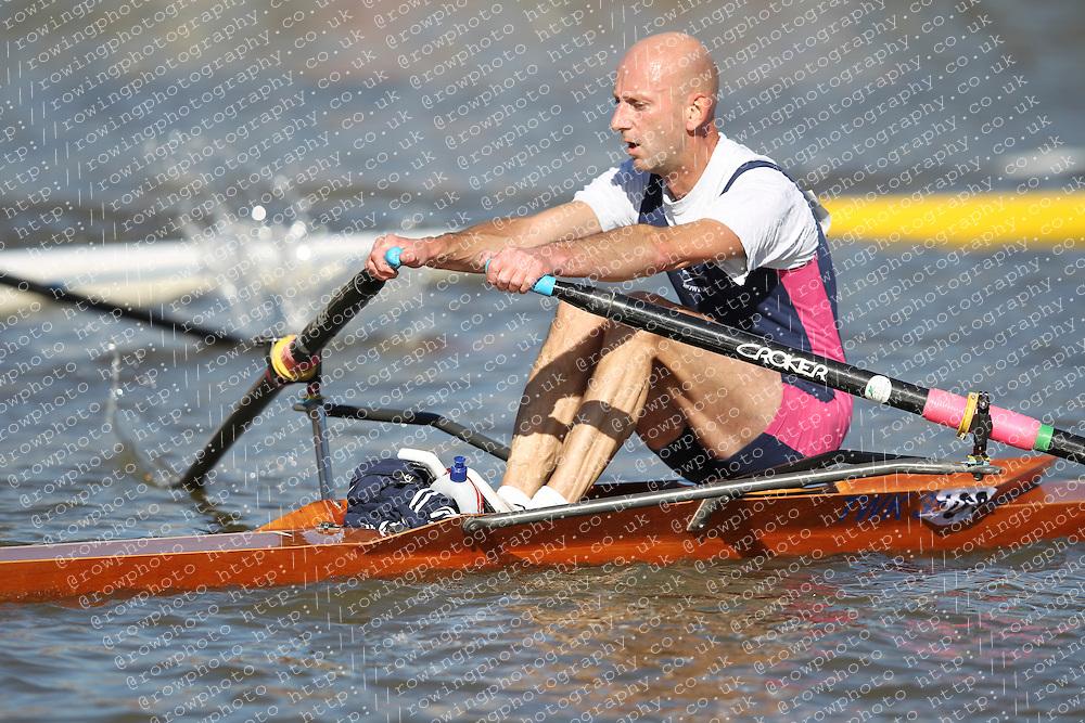 29.09.2012. Wallingford Long Distance Sculls 2012, The River Thames. Division 1. MasC 1x. Twickenham Rowing Club.