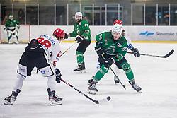 Orehek Janez of HK SZ Olimpija during ice hockey match between HK SZ Olimpija and HDD Sij Acroni Jesenice in 1. Round of Playoff  in Alps Hockey League 2019/20, on February 13, 2020, in Hala Tivoli, Ljubljana, Slovenia. Photo By Grega Valancic / Sportida