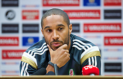 CARDIFF, WALES - Thursday, October 9, 2014: Wales' captain Ashley Williams during a press conference at the Cardiff City Stadium ahead of the UEFA Euro 2016 qualifying match against Bosnia and Herzegovina. (Pic by David Rawcliffe/Propaganda)