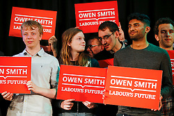 © Licensed to London News Pictures. 26/07/2016. London, UK. Supporters of Labour leadership candidate Owen Smith MP attend a Labour leadership rally at Emmanuel Centre in London on 26 July 2016. Photo credit: Tolga Akmen/LNP