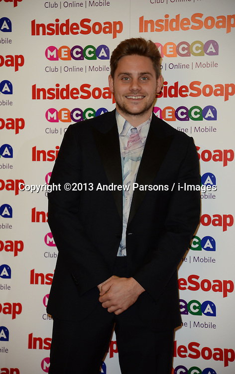 Inside Soap Awards.<br /> James Atherton arrives for the Inside Soap Awards, Ministry of Sound, London, United Kingdom,<br /> Monday, 21st October 2013. Picture by Andrew Parsons / i-Images