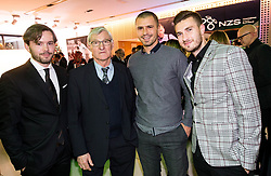 Sebastjan Komel, Vojislav Simeunovic, Dejan Grabić and Rok Elsner during Traditional New Year party of of the Slovenian Football Association - NZS, on December 18, 2017 in Kongresni center, Brdo pri Kranju, Slovenia. Photo by Vid Ponikvar / Sportida