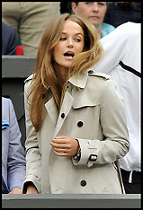 JUNE 28 2013 Kim Sears watching Andy Murray