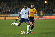 Tottenham Hotspur  Moussa Sissoko (17)on the ball during the The FA Cup 4th round match between Newport County and Tottenham Hotspur at Rodney Parade, Newport, Wales on 27 January 2018. Photo by Gary Learmonth.