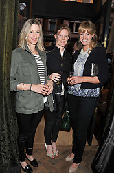 Left to right, sisters OLIVIA HUNT, CHIARA EVETTS and MARINA FOGLE at a reception hosted by Ralph Lauren Double RL and Dexter Fletcher before a private screening of Wild Bill benefitting FilmAid held at RRL 16 Mount Street, London on 26th March 2012.