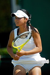 LONDON, ENGLAND - Monday, June 28, 2010: Risa Ozaki (JPN) during the Girls' Singles 1st Round match on day seven of the Wimbledon Lawn Tennis Championships at the All England Lawn Tennis and Croquet Club. (Pic by David Rawcliffe/Propaganda)