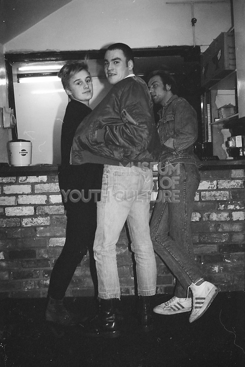 Skinheads at bar, Sean Simpson and others, Halfway House, UK, 1980s.