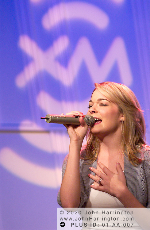 """LeeAnn Rimes, most recognized for her crossover hit """"How Do I Live"""" which was released in 1997, performs at XM's studios on Saturday August 21, 2004 as part of an on-going series called """"XM Artist Confidential."""""""